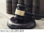 Купить «Судейский молоток», фото № 23289404, снято 26 августа 2019 г. (c) Sergejs Rahunoks / Фотобанк Лори