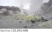 Купить «Камчатка, активный Мутновский вулкан (4K)», видеоролик № 23293448, снято 19 января 2020 г. (c) А. А. Пирагис / Фотобанк Лори