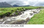 Купить «view to river and hills at connemara in ireland 36», видеоролик № 23295308, снято 23 июня 2016 г. (c) Syda Productions / Фотобанк Лори