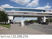 Москва-Сити. Багратионовский мост. Вид снаружи. (2015 год). Редакционное фото, фотограф Краснобай Александр / Фотобанк Лори