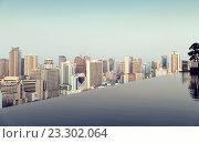 Купить «view from infinity edge pool to bangkok city», фото № 23302064, снято 6 февраля 2015 г. (c) Syda Productions / Фотобанк Лори