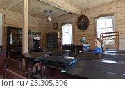 Купить «Церковно-приходская одноклассная школа 1885 года в музее «Тальцы»», фото № 23305396, снято 18 июня 2016 г. (c) Виктория Катьянова / Фотобанк Лори