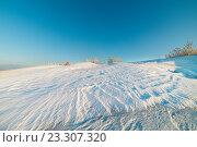 Купить «Пустынный зимний пейзаж арктической тундры», фото № 23307320, снято 1 марта 2014 г. (c) Андрей Радченко / Фотобанк Лори