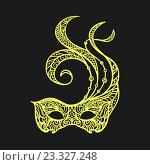 Купить «Узорная маскарадная маска», иллюстрация № 23327248 (c) Шильникова Дарья / Фотобанк Лори