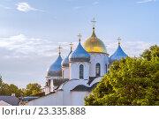 Купить «Вид на собор Святой Софии в Великом Новгороде, Россия», фото № 23335888, снято 29 июля 2016 г. (c) Зезелина Марина / Фотобанк Лори