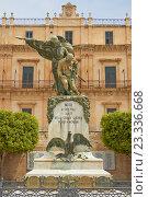 Купить «Памятник погибшим в Первой мировой войне в итальянском городе Ното», фото № 23336668, снято 4 июня 2016 г. (c) Хименков Николай / Фотобанк Лори