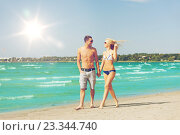 Купить «couple walking on the beach», фото № 23344740, снято 4 августа 2012 г. (c) Syda Productions / Фотобанк Лори