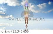 Купить «Double exposure of woman practicing yoga», видеоролик № 23346656, снято 25 мая 2020 г. (c) Wavebreak Media / Фотобанк Лори