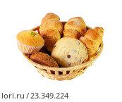Купить «Ассортимент пирожных и печенья», фото № 23349224, снято 10 ноября 2015 г. (c) Elena Molodavkina / Фотобанк Лори
