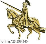 Купить «Рыцарь верхом на коне», иллюстрация № 23356540 (c) Aloysius Patrimonio / Фотобанк Лори