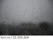 Капли дождя на стекле. Стоковое фото, фотограф Александр Палехов / Фотобанк Лори