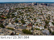 Newark, New Jersey, USA, Aerial View from Airplane,., фото № 23361084, снято 11 сентября 2012 г. (c) age Fotostock / Фотобанк Лори