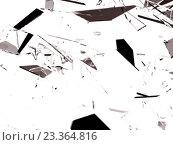 Купить «Осколки разбитого стекла на белом фоне», иллюстрация № 23364816 (c) Арсений Герасименко / Фотобанк Лори