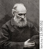 William Thomson, 1st Baron Kelvin, 1824-1907. Belfast born mathematical physicist and engineer. From The Century Edition of Cassell's History of England, published c. 1900. Редакционное фото, фотограф Classic Vision / age Fotostock / Фотобанк Лори