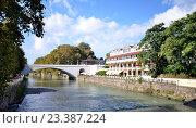Купить «Город Сочи и река Сочи», фото № 23387224, снято 22 сентября 2014 г. (c) Александр Карпенко / Фотобанк Лори