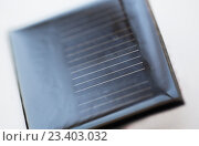 Купить «close up of solar battery or cell», фото № 23403032, снято 3 июня 2016 г. (c) Syda Productions / Фотобанк Лори