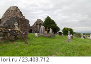 Купить «old celtic cemetery graveyard in ireland», фото № 23403712, снято 24 июня 2016 г. (c) Syda Productions / Фотобанк Лори