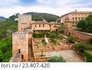 General view to Nazaries palaces at Alhambra (2016 год). Стоковое фото, фотограф Яков Филимонов / Фотобанк Лори