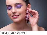 Купить «Beautiful woman with jewellery in fashion concept», фото № 23420708, снято 13 июля 2016 г. (c) Elnur / Фотобанк Лори