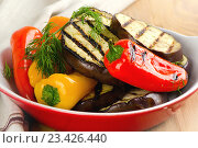 Купить «Grilled healthy vegetables in bowl», фото № 23426440, снято 5 января 2015 г. (c) Tatjana Baibakova / Фотобанк Лори