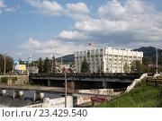 Купить «Владикавказ. Администрация местного самоуправления», фото № 23429540, снято 9 августа 2016 г. (c) Андрей Багаев / Фотобанк Лори