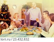 Christmas celebration in the bosom of family. Стоковое фото, фотограф Яков Филимонов / Фотобанк Лори