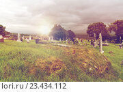 Купить «old celtic cemetery graveyard in ireland», фото № 23434112, снято 24 июня 2016 г. (c) Syda Productions / Фотобанк Лори