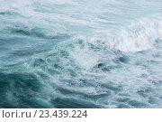 Купить «Sea wave with foam.», фото № 23439224, снято 23 мая 2016 г. (c) Юрий Брыкайло / Фотобанк Лори