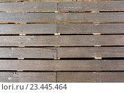 Купить «Wooden decking as background.», фото № 23445464, снято 20 мая 2016 г. (c) Юрий Брыкайло / Фотобанк Лори