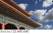 Купить «Запретный город, Пекин, Китай», видеоролик № 23445640, снято 29 августа 2016 г. (c) Владимир Журавлев / Фотобанк Лори