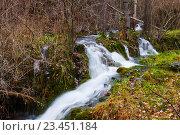 Купить «Mountains stream with moss», фото № 23451184, снято 9 декабря 2014 г. (c) Яков Филимонов / Фотобанк Лори