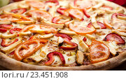 Пицца с курицей и овощами. Стоковое фото, фотограф Павел / Фотобанк Лори