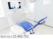 Купить «interior of new modern dental clinic office», фото № 23460752, снято 23 мая 2015 г. (c) Syda Productions / Фотобанк Лори
