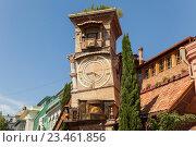 Купить «Театр марионеток Резо Габриадзе. Башня с часами. Тбилиси, Грузия», эксклюзивное фото № 23461856, снято 14 июня 2016 г. (c) Gagara / Фотобанк Лори