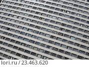 Высотное жилое здание на улице Гризодубовой дом 2 в Москве, фрагмент (2016 год). Стоковое фото, фотограф Ольга Летто / Фотобанк Лори