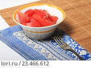 Купить «Салат из свежих помидоров», эксклюзивное фото № 23466612, снято 3 сентября 2016 г. (c) Яна Королёва / Фотобанк Лори