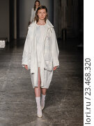 Купить «MILAN, ITALY - SEPTEMBER 28: A model walks the runway during the Arthur Arbesser fashion show as part of Milan Fashion Week Spring/Summer 2016 on September 28, 2015 in Milan, Italy.», фото № 23468320, снято 28 сентября 2015 г. (c) Anton Oparin / Фотобанк Лори