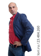 Купить «Эмоциональный мужчина с гримасой», фото № 23484260, снято 2 июля 2016 г. (c) Александр Лычагин / Фотобанк Лори