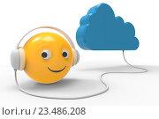 Облачное хранилище, символ, иллюстрация. Стоковая иллюстрация, иллюстратор Rashpil / Фотобанк Лори