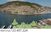 Купить «Балаклава это популярный курорт Крыма», видеоролик № 23497224, снято 3 августа 2016 г. (c) Юлия Машкова / Фотобанк Лори