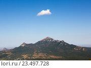 Купить «Вид на гору Бештау с горы Машук (Пятигорск)», фото № 23497728, снято 7 сентября 2016 г. (c) Валерий Шилов / Фотобанк Лори