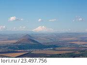 Купить «Пятигорск, панорама города с горы Машук», фото № 23497756, снято 7 сентября 2016 г. (c) Валерий Шилов / Фотобанк Лори
