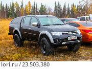 Купить «Mitsubishi L200», фото № 23503380, снято 19 сентября 2015 г. (c) Art Konovalov / Фотобанк Лори