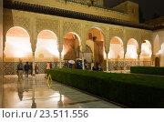 Купить «Courtyard of the Myrtles (Patio de los Arrayanes), Alhambra», фото № 23511556, снято 12 мая 2016 г. (c) Яков Филимонов / Фотобанк Лори