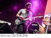 Rock band Gandhi, from Costa Rica, during their show at Coca Cola Fest concert. Estadio Nacional, San José, Costa Rica. August 27th, 2016. Редакционное фото, фотограф Jose Campos / Photo Media Express / VWPics / age Fotostock / Фотобанк Лори