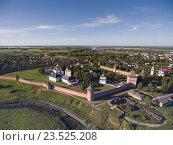 Вид с воздуха на монастырь Святого Евфимия Суздальского, фото № 23525208, снято 17 июля 2016 г. (c) Михаил Коханчиков / Фотобанк Лори