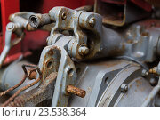 Купить «close up of vintage car hoist mechanism», фото № 23538364, снято 27 июня 2016 г. (c) Syda Productions / Фотобанк Лори