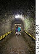 Купить «Туннель к станции «Зал Апсны» железной дороги в Новоафонской пещере, Абхазия», эксклюзивное фото № 23545604, снято 23 июля 2016 г. (c) Алексей Гусев / Фотобанк Лори