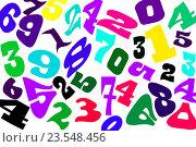 Купить «Цифры разных шрифтов на белом фоне», иллюстрация № 23548456 (c) Сергеев Валерий / Фотобанк Лори