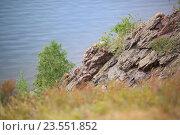 Скалистый берег, мягкий фокус. Стоковое фото, фотограф Петр Карташов / Фотобанк Лори